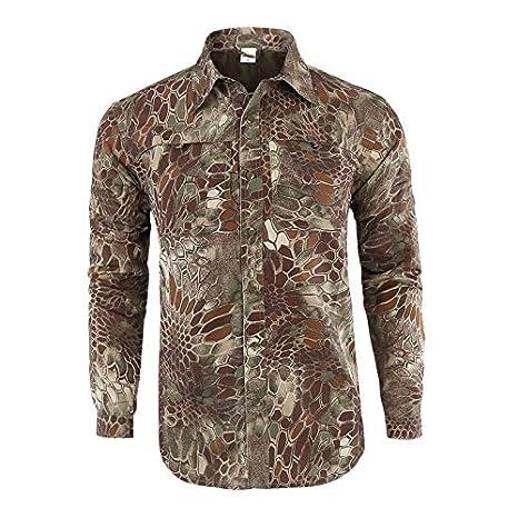 LUCKGXY Camiseta de Secado rápido de los Hombres, Desmontable ...