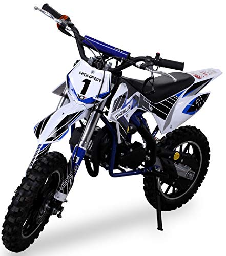 Kinder Mini Crossbike Gazelle 49 cc 2-takt inklusive Tuning Kupplung 15mm Vergaser Easy Pull Start verstärkte Gabel Dirt…