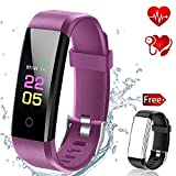 Fitness Tracker Waterproof with Blood Pressure Monitor, Activity Tracker Watch with Heart Rate