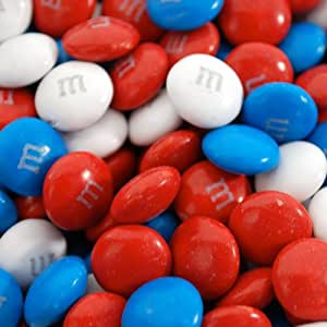 Amazon.com : Red, White, and Blue M&M's (1lbs) : Candy