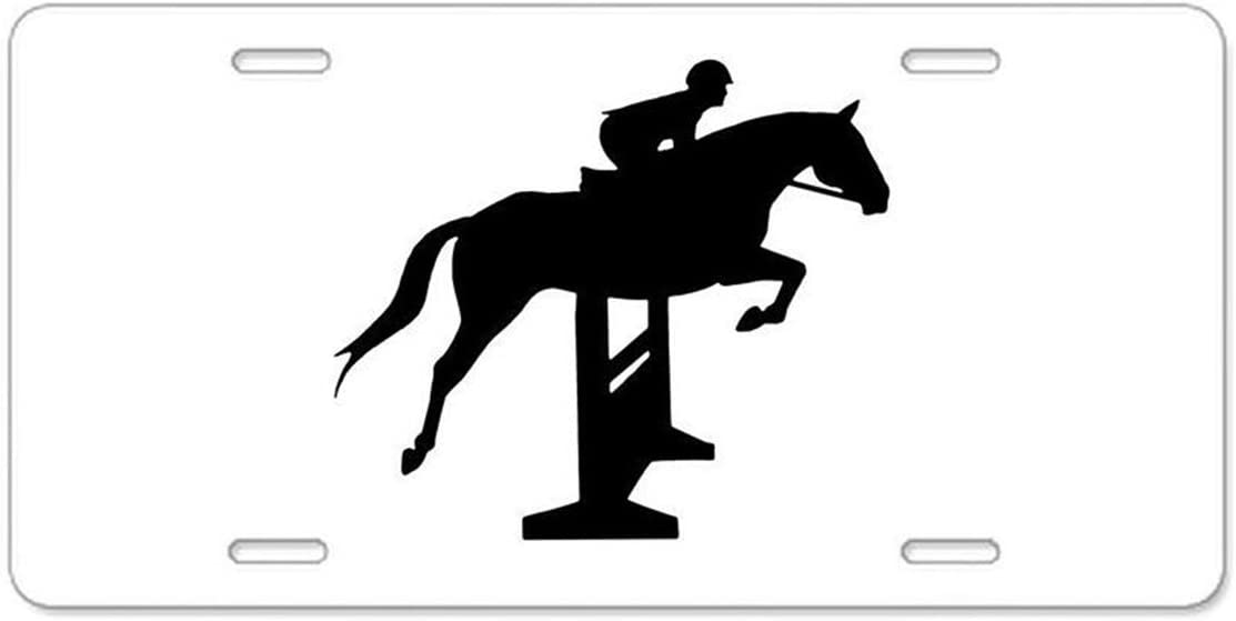 Mayers Funny Horse License Plate Designed Decorative Metal Car License Plate Auto Tag 12X6 inch Car Truck RV Trailer Cars Tag Blue-Brown