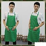 Apron,Restaurant Home Work Apron Couple Apron Korean Fashion Kitchen Apron Cleaning Anti-Fouling bib Apron Waist-I 84x60cm(33x24inch)
