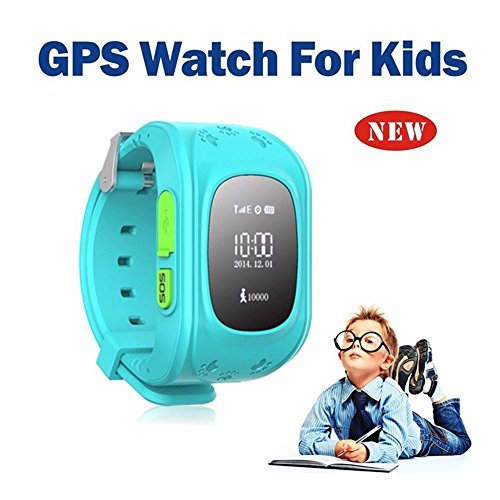 Hangang Kid Smart Watch GPS Tracker Wrist Phone Game Watch for Kids Child Boys Girls SOS anti-lost Alarm Remote Monitor with SIM Card Compatible for iOS Android Touch Screen Birthday Gifts (blue)
