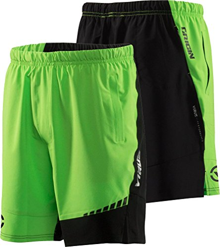 Virus Men's Origin Active Shorts (ST3) Green/Black (XL, Black/Green)