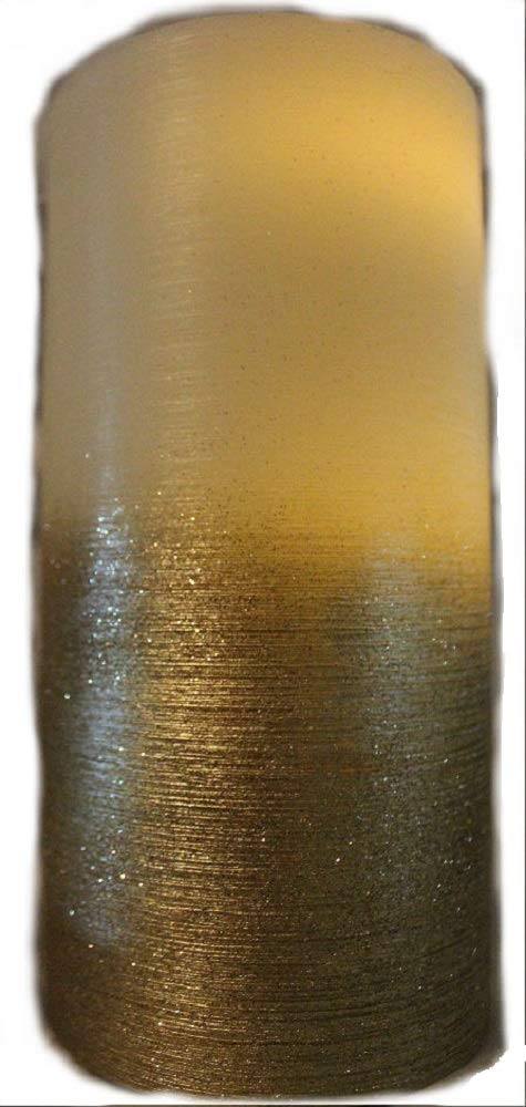 Bronze Metallic Water Wick Candle with Remote.