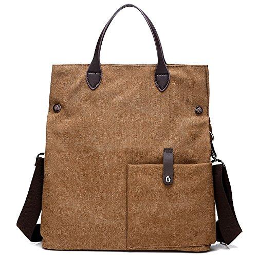 Vintage Leisure Single Shoulder Bag Mini Backpack Messenger Chest Bag for Men (Brown) - 7