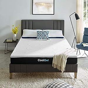 Classic Brands Cool Gel Memory Foam 9-Inch Mattress | CertiPUR-US Certified | Bed-in-a-Box, Twin XL