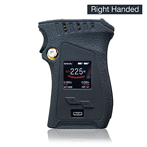 DSC-Mart Texture Case for Smok Mag 225W Right Handed Box MOD Protective Silicone Skin Rubber Cover Sleeve Wrap Gel fits MAG 225W Starter Kit (Black)
