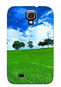 New Snap-on Exultantor Skin Case Cover Compatible With Galaxy S4- Trees On A Field