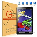 """8"""" Lenovo Tab 2 A8-50 Screen Protector [Tempered Glass] [Ultra Clear], Popsky 9H Hardness High Definition Bubble-free Scratch Proof Premium Screen Protector Glass"""