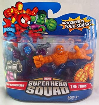 Hasbro Marvel Superhero Squad Series 11 Mini 3 Inch Figure 2-Pack Kang The Conqueror and The Thing by: Amazon.es: Juguetes y juegos