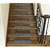Ottomanson Comfort Collection Stair Tread, 14 Pack, Grey