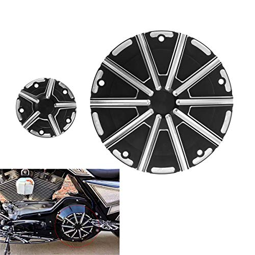 Motorcycle Derby Cover Timing Timer Cover Engine Cover Cap CNC Aluminum Fit For Harley Touring Softail Road King Electra Glide