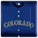"LicensedMLB Colorado Rockies Party Square Dinner Party Plates Tableware, Paper, 10"", Pack of 18"