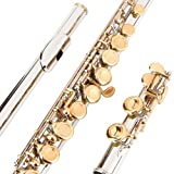 #7: Glory Closed Hole C Flute With Case, Tuning Rod and Cloth,Joint Grease and Gloves Nickel/Laquer--More Colors available,Click to see more colors