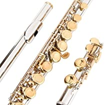 Glory Closed Hole C Flute With Case, Tuning Rod and Cloth,Joint Grease and Gloves Nickel/Laquer--More Colors available,Click to see more colors