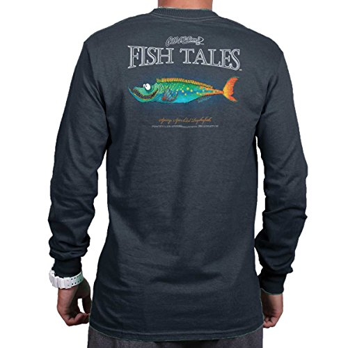 Cotton Long Fishing Sleeve Shirt (Gill McFinn Spiny Speckled Psycho Fish Sporting Goods Fishing Gear Funny Long Sleeve Tee)