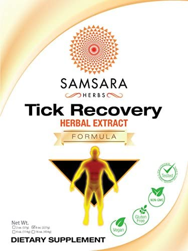 Samsara Herbs Tick Recovery Herbal Powder Formula 8oz 227g – Japanese Knotweed, Cat s Claw, SIDA Acuda, Houttuynia Cordata, Stevia