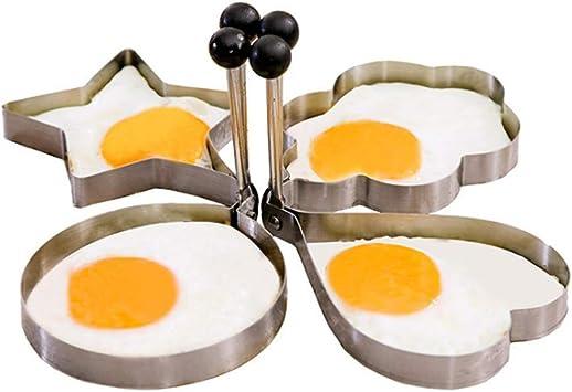 4PCS pour la cuisine en acier inoxydable moule de crepes anneau cuisson l/'Oeuf