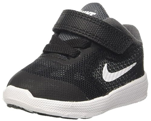 Nike Kids' Revolution 3 (TDV) Running Shoe, Dark Grey/White/Black/Pure Platinum, 6 M US Toddler