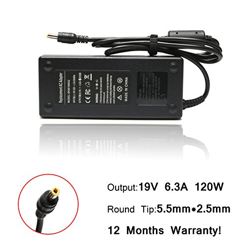 120w Laptop Adapter (19V 6.3A 120W AC Adapter Laptop Charger for Asus GL551J GL551JW GL752VW G55VW G55 G55V G50 G50V G50VT G51 G51J G51JX G51VX G1S N56VZ N56V N56 N53 N53S N55 N76)