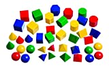 Learning Advantage 7749 Mini Geometric Solids Set Of 403D Shapes