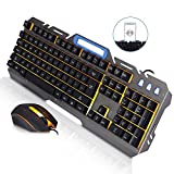 Best Wired Keyboard And Mouses - JUDYelc Wired Keyboard and Mouse Sets Metal Mechanical Review