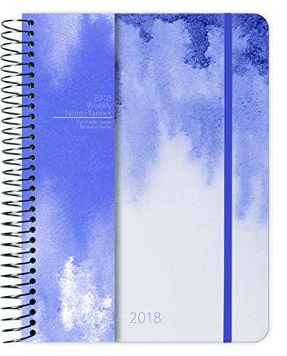 Watercolor Fade 2018 Weekly Note Planner