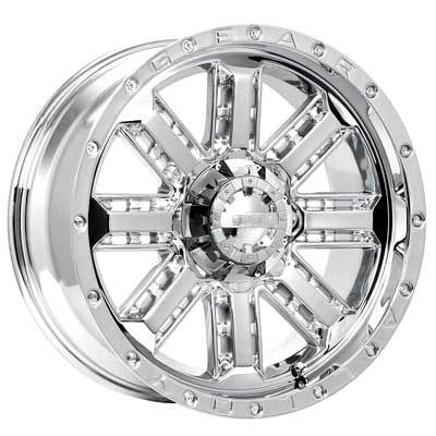 Gear Alloy Nitro 20x9 Chrome Wheel / Rim 6x5.5 & 6x135 with a 18mm Offset and a 108.00 Hub Bore. Partnumber 723C-2096818