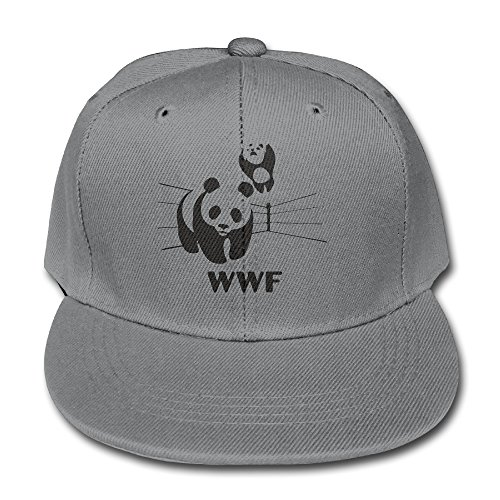 world-wildlife-fund-logo-cotton-baseball-cap-boys-girls-snapback-hip-hop-flat-hat-ash