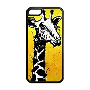 5C Phone Cases, Giraffe Hard TPU Rubber Cover Case for iPhone 5C