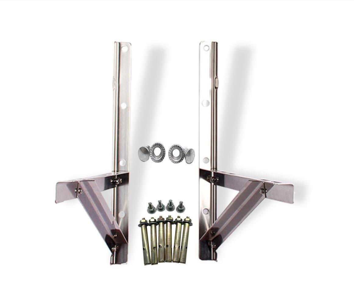 Air Conditioner Bracket,Universal Outdoor Wall AC Support Bracket, Support up to 660lb Air Conditioner Accessories