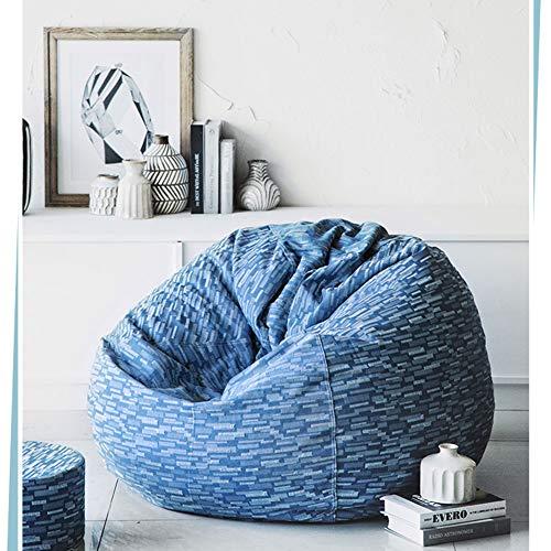 Bean Bag Recliner Gaming Bean Bag Bedroom BeanBag Chair Indoor Living Room Beanbag Suitable for Adults, Children,Blue2,80X90cm