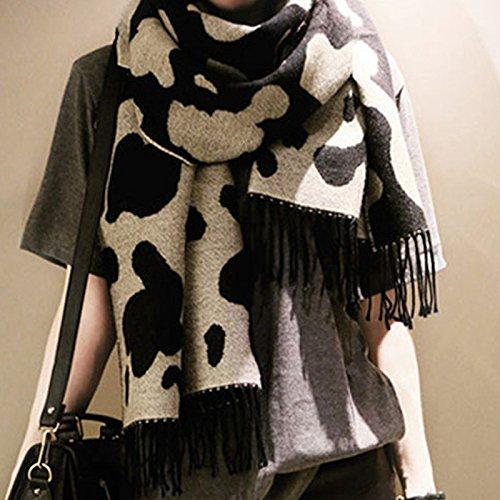 CAIYUN Ladies Winter Autumn Faddish Scarf Warm Thickening Wool Cappa