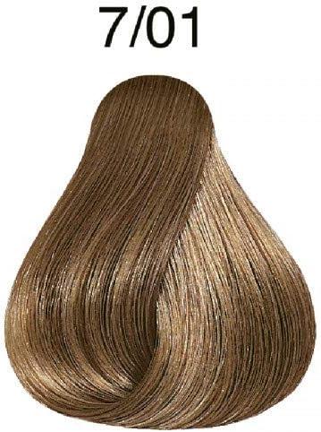 Wella Professionals Koleston - Tinte para cabello (60 ml), 7/01 rubio medio natural-ceniza
