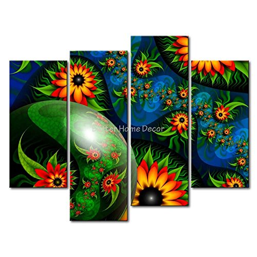 Fresh Look Color YEHO Art Gallery Painting Black-Eyed Susans Print On Canvas The Picture Abstract Pictures ()