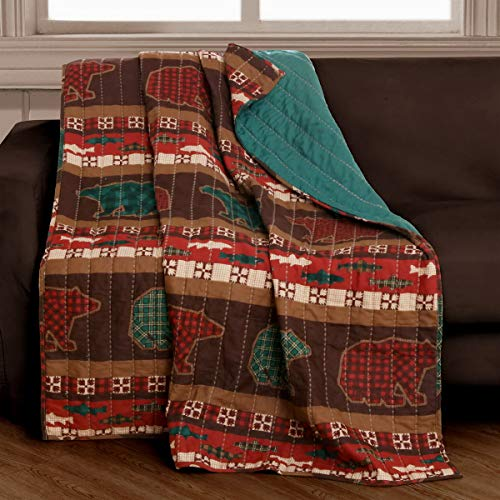 (Finely Stitched Quilted Throw Blanket (50