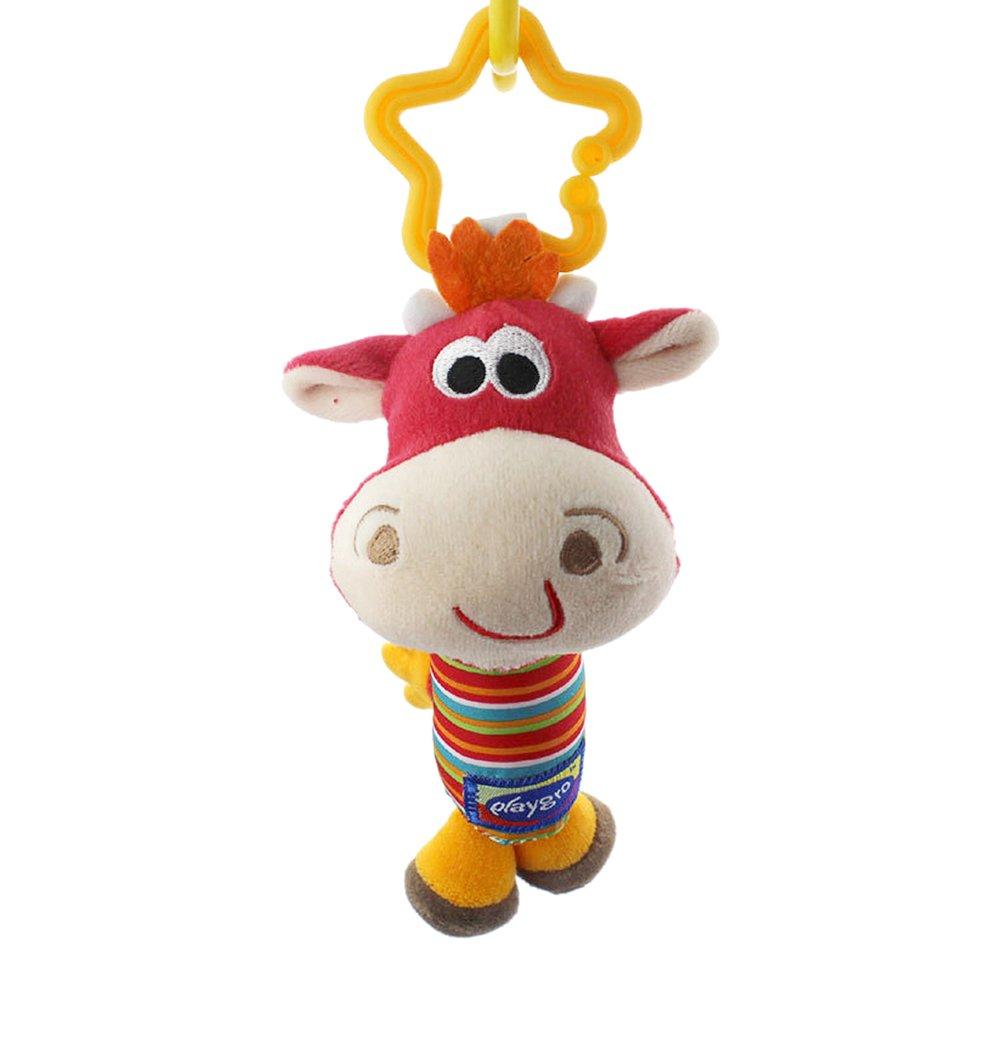 Newin Star Juguetes Colgante,Juguetes del Cochecito y Silla de paseo,Cama Colgando,Cuna Sonajero Musical para bebé y niños(toro lindo)