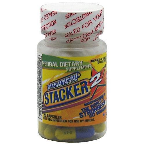 Stacker 2 gélules Fat Burner, sans éphédra, 20 Capsules
