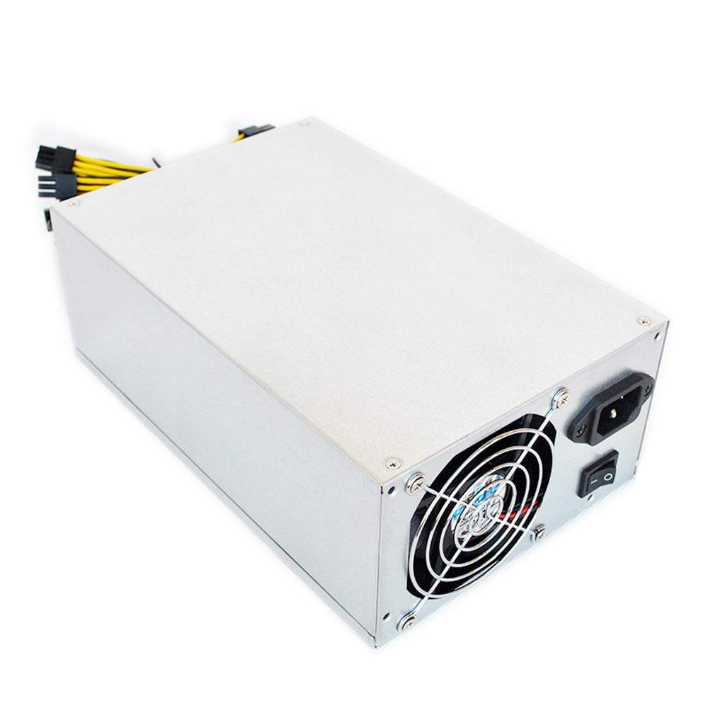 Utini Power Supply Dual Ball Bearing Fan Dedicated Power Supply for S9 L3 D3 R-4 A7 E9 Miner Mining Machines with Metal Housing