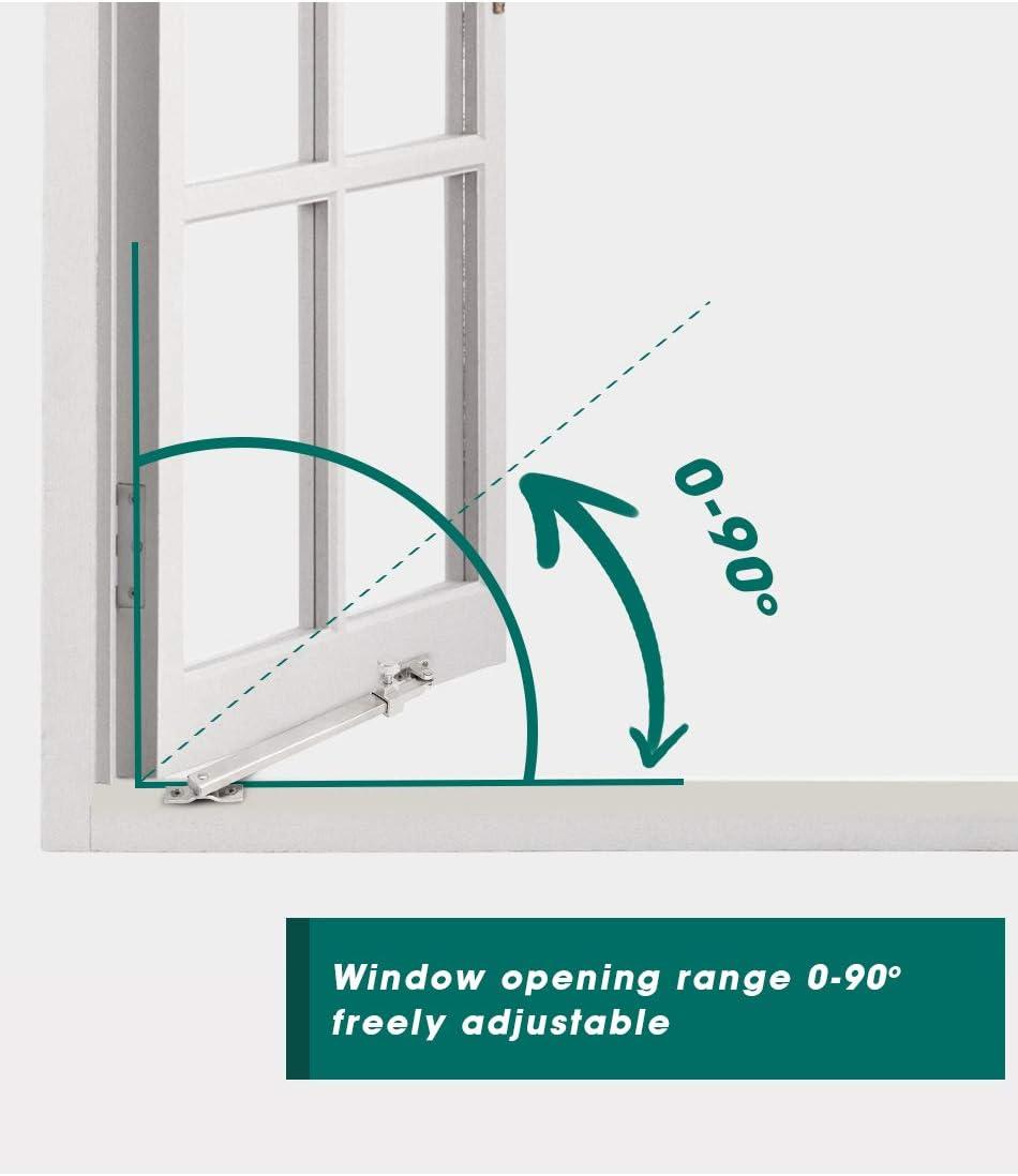 MARIE Cerradura del pestillo de la ventana de la estancia abatible Ajustador de la estancia abatible resistente de acero inoxidable 335mm