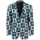 NFL Philadelphia Eagles Mens Patches Ugly Business Jacket - Mens Size 50, 50 (XX-Large)