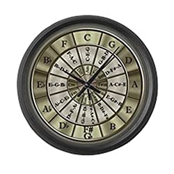CafePress - Circle Of Fifths - Large 17 Round Wall Clock, Unique Decorative Clock