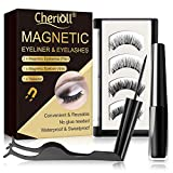 Magnetic Eyeliner, Magnetic Eyeliner With Magnetic Eyelashes, Waterproof Sweatproof Magnetic Liquid Eyeliner, 3D Magnetic False Eyelashes & Tweezers, No Glue Needed