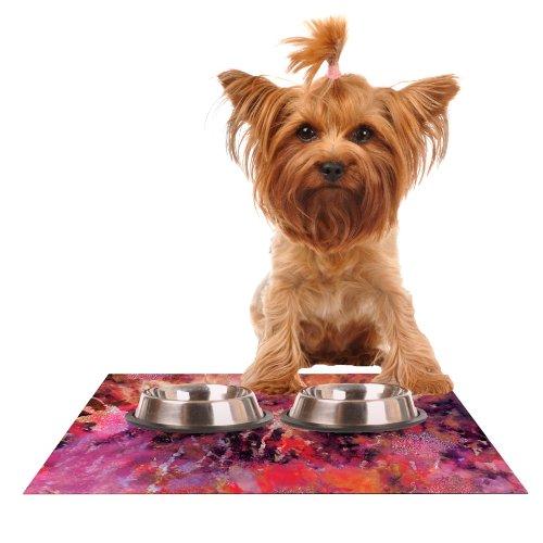 Kess InHouse Nikki Strange Indian City  Feeding Mat for Pet Bowl, 24 by 15-Inch