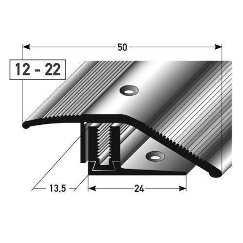 Compensatore di altezza per Parquet 12-22 mm - 90 cm - 50 MM larghezza - argento - 3 pz MADE IN GERMANY acerto