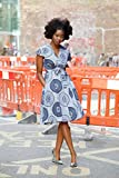 Ankara wrap dress / wax print dress / wrap dress / African print dress - Queen indigo print dress