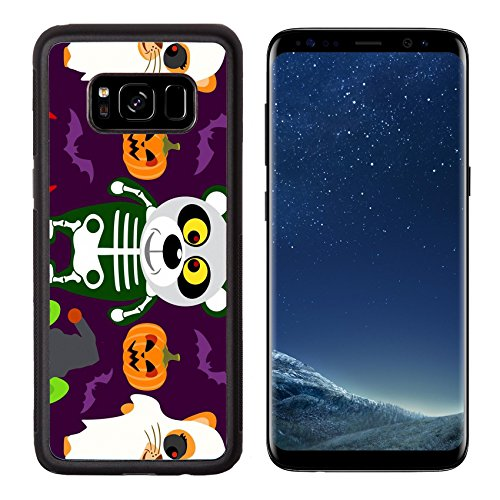 Devil Halloween Costumes Images (Luxlady Premium Samsung Galaxy S8 Aluminum Backplate Bumper Snap Case IMAGE ID: 31870698 Halloween background seamless with animal in Halloween costume)