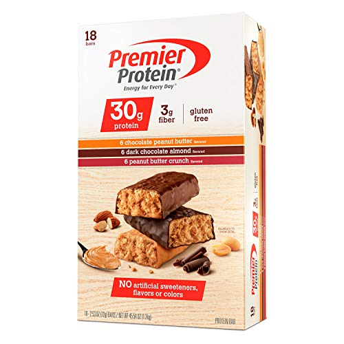 - Premier Protein Bar Variety Pack, 18 Count, 2.53 Ounce Each