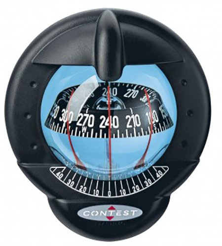 (Nautos 39665 - Contest 101 Compass-Vertical Mount-Black Bezel Black Card- PLASTIMO 64421)